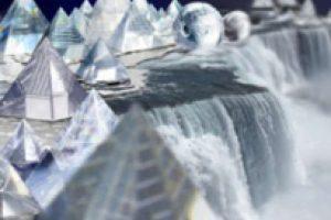 cascada de cristal matte painting