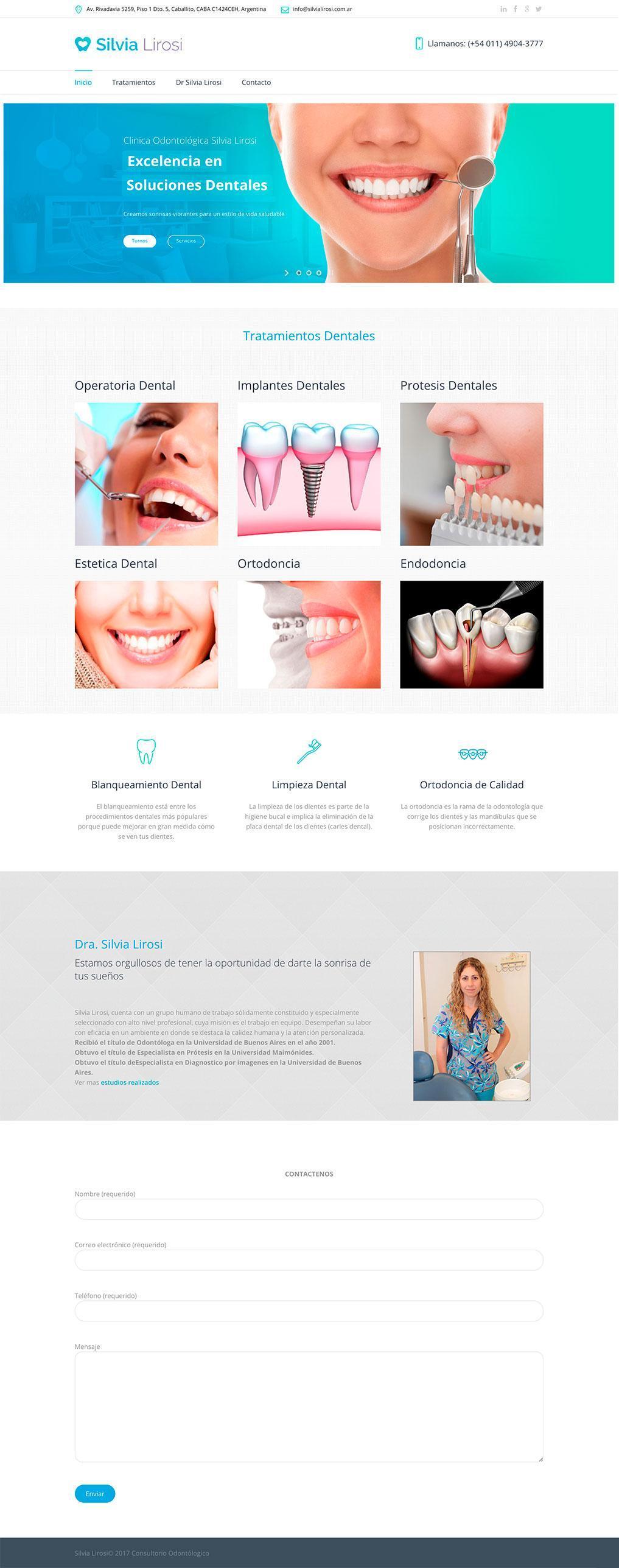diseño pagina web consultorio odontologico